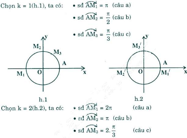 Giải Toán lớp 10 Bài 1: Cung và góc lượng giác