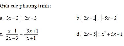 Giải Toán lớp 10 Bài 2: Phương trình quy về phương trình bậc nhất, bậc hai