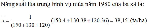 Giải Toán lớp 10 Bài 3: Số trung bình cộng. Số trung vị. Mốt