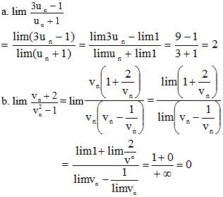 Giải Toán lớp 11 Bài 1: Giới hạn của dãy số