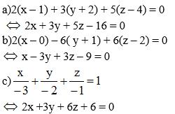 Giải Toán lớp 12 Bài 2: Phương trình mặt phẳng