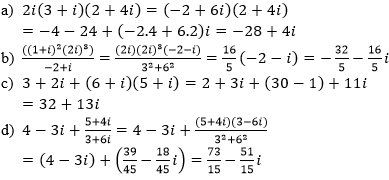 Giải Toán lớp 12 Bài 3: Phép chia số phức