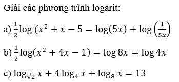 Giải Toán lớp 12 Bài 5: Phương trình mũ và phương trình lôgarit