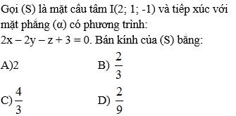 Giải Toán lớp 12 Câu hỏi trắc nghiệm chương 3 Hình học 12