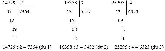 Giải Toán lớp 3 bài Chia số có năm chữ số với số có một chữ số (tiếp theo)
