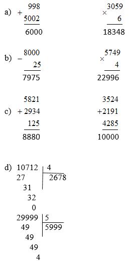 Giải Toán lớp 3 bài Ôn tập bốn phép tính trong phạm vi 100 000 (tiếp theo) trang 172