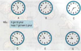 Giải Toán lớp 3 bài: Xem đồng hồ (tiếp theo)