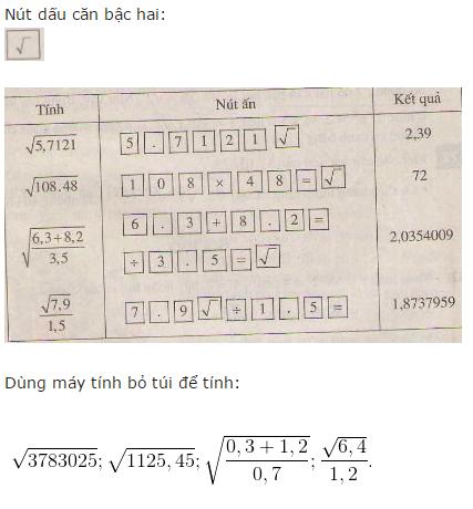 giai toan lop 7 bai 11 so vo ti khai niem ve can bac hai 8 - Giải Toán lớp 7 Bài 11: Số vô tỉ. Khái niệm về căn bậc hai