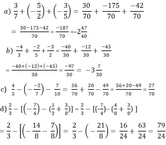 giai toan lop 7 bai 2 cong tru so huu ti 5 - Giải Toán lớp 7 bài 2: Cộng trừ số hữu tỉ