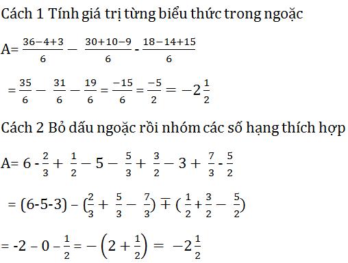 giai toan lop 7 bai 2 cong tru so huu ti 9 - Giải Toán lớp 7 bài 2: Cộng trừ số hữu tỉ