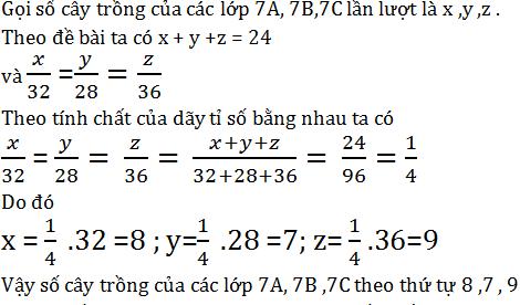 giai toan lop 7 bai 2 mot so bai toan ve dai luong ti le thuan 2 - Giải Toán lớp 7 Bài 2: Một số bài toán về đại lượng tỉ lệ thuận