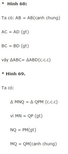 giai toan lop 7 bai 3 truong hop thu nhat cua tam giac canh canh canh c c c 4 - Giải Toán lớp 7 Bài 3: Trường hợp thứ nhất của tam giác cạnh - cạnh - cạnh (c.c.c)