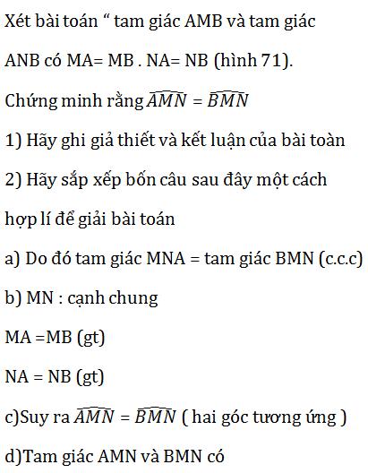 giai toan lop 7 bai 3 truong hop thu nhat cua tam giac canh canh canh c c c 6 - Giải Toán lớp 7 Bài 3: Trường hợp thứ nhất của tam giác cạnh - cạnh - cạnh (c.c.c)