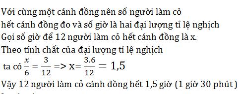 giai toan lop 7 bai 4 mot so bai toan ve dai luong ti le nghich 3 - Giải Toán lớp 7 Bài 4: Một số bài toán về đại lượng tỉ lệ nghịch
