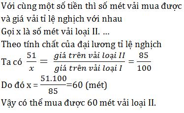 giai toan lop 7 bai 4 mot so bai toan ve dai luong ti le nghich 4 - Giải Toán lớp 7 Bài 4: Một số bài toán về đại lượng tỉ lệ nghịch