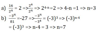 Giải Toán lớp 7 bài 6: Lũy thừa của một số hữu tỉ (tiếp)