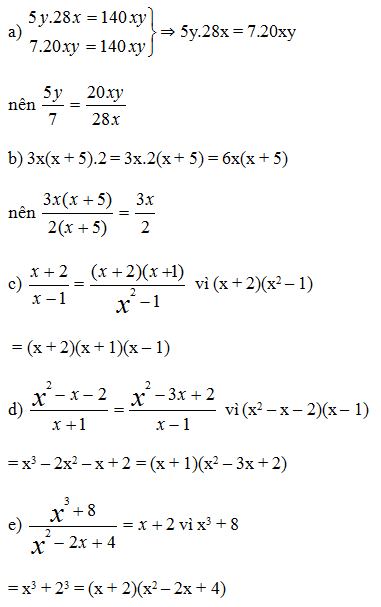 Giải Toán lớp 8 Bài 1: Phân thức đại số