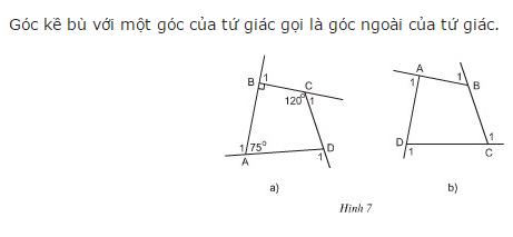 Giải Toán lớp 8 Bài 1: Tứ giác