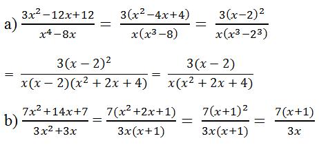Giải Toán lớp 8 Bài 3: Rút gọn phân thức