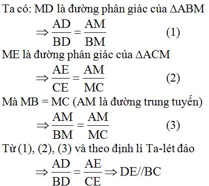 giai toan lop 8 bai 3 tinh chat duong phan giac cua tam giac 5 - Giải Toán lớp 8 Bài 3: Tính chất đường phân giác của tam giác