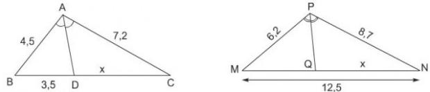 giai toan lop 8 bai 3 tinh chat duong phan giac cua tam giac - Giải Toán lớp 8 Bài 3: Tính chất đường phân giác của tam giác