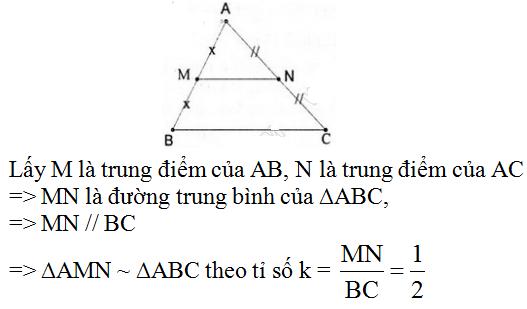giai toan lop 8 bai 4 khai niem hai tam giac dong dang 1 - Giải Toán lớp 8 Bài 4: Khái niệm hai tam giác đồng dạng