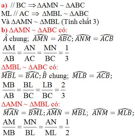giai toan lop 8 bai 4 khai niem hai tam giac dong dang 5 - Giải Toán lớp 8 Bài 4: Khái niệm hai tam giác đồng dạng