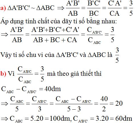 giai toan lop 8 bai 4 khai niem hai tam giac dong dang 7 - Giải Toán lớp 8 Bài 4: Khái niệm hai tam giác đồng dạng