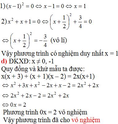 Giải Toán lớp 8 Bài 5: Phương trình chứa ẩn ở mẫu