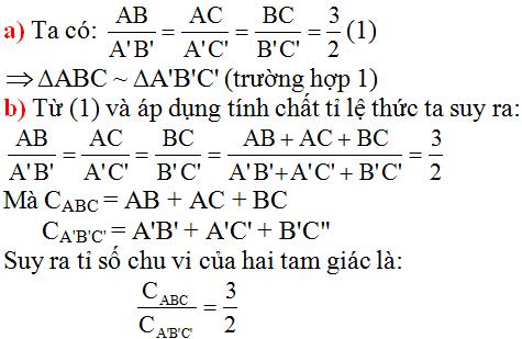 giai toan lop 8 bai 5 truong hop dong dang thu nhat 1 - Giải Toán lớp 8 Bài 5: Trường hợp đồng dạng thứ nhất