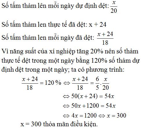 Giải Toán lớp 8 Bài 7: Giải bài toán bằng cách lập phương trình (tiếp)