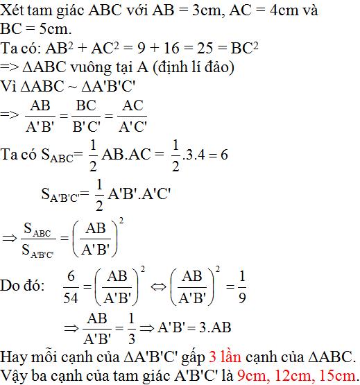 giai toan lop 8 bai 8 cac truong hop dong dang cua tam giac vuong 3 - Giải Toán lớp 8 Bài 8: Các trường hợp đồng dạng của tam giác vuông