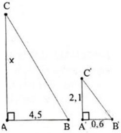 giai toan lop 8 bai 8 cac truong hop dong dang cua tam giac vuong 4 - Giải Toán lớp 8 Bài 8: Các trường hợp đồng dạng của tam giác vuông