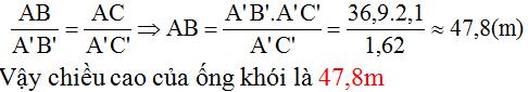 giai toan lop 8 bai 8 cac truong hop dong dang cua tam giac vuong 9 - Giải Toán lớp 8 Bài 8: Các trường hợp đồng dạng của tam giác vuông