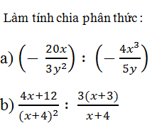 Giải Toán lớp 8 Bài 8: Phép chia các phân thức đại số