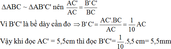 Giải Toán lớp 8 Bài 9: Ứng dụng thực tế của tam giác đồng dạng