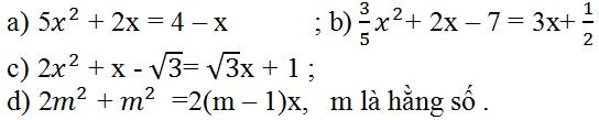 Giải Toán lớp 9 Bài 3: Phương trình bậc hai một ẩn