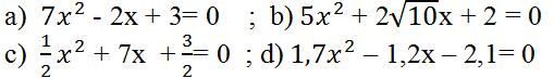 Giải Toán lớp 9 Bài 4: Công thức nghiệm của phương trình bậc hai