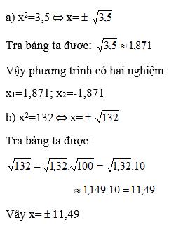 Giải Toán lớp 9 Bài 5: Bảng căn bậc hai