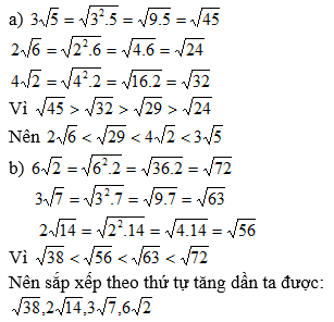 Giải Toán lớp 9 Bài 7: Biến đổi đơn giản biểu thức chứa căn thức bậc hai (tiếp theo)