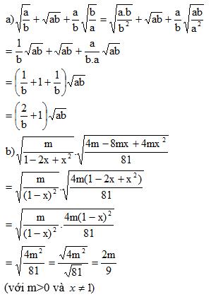 Giải Toán lớp 9 Bài 8: Rút gọn biểu thức chứa căn thức bậc hai