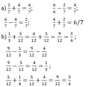 Giải Toán lớp 4 Ôn tập về các phép tính với phân số