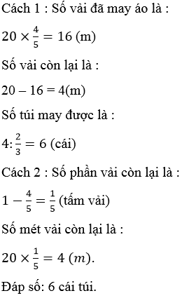 Giải Toán lớp 4 Ôn tập về các phép tính với phân số (tiếp theo) trang 169