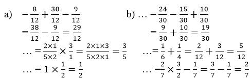 Giải Toán lớp 4 Ôn tập về các phép tính với phân số (tiếp theo) trang 170
