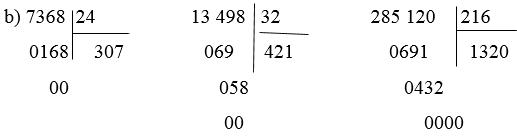 giai toan lop 4 on tap ve cac phep tinh voi so tu nhien tiep theo 1 - Giải Toán lớp 4 Ôn tập về các phép tính với số tự nhiên (tiếp theo)