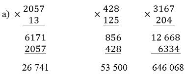 giai toan lop 4 on tap ve cac phep tinh voi so tu nhien tiep theo - Giải Toán lớp 4 Ôn tập về các phép tính với số tự nhiên (tiếp theo)