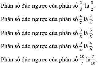 Giải Toán lớp 4 Phép chia phân số